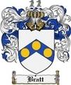Thumbnail Bratt Family Crest Bratt Coat of Arms Digital Download
