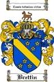 Thumbnail Brettin Family Crest Brettin Coat of Arms Digital Download