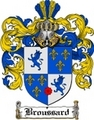 Thumbnail Broussard Family Crest  Broussard Coat of Arms