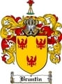 Thumbnail Bruntin Family Crest  Bruntin Coat of Arms
