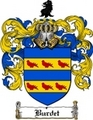 Thumbnail Burdet Family Crest  Burdet Coat of Arms