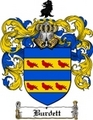 Thumbnail Burdett Family Crest  Burdett Coat of Arms