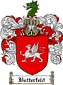 Thumbnail Butterfeld Family Crest Butterfeld Coat of Arms Digital Download