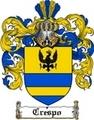 Thumbnail Crespo Family Crest  Crespo Coat of Arms