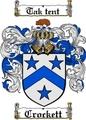 Thumbnail Crockett Family Crest  Crockett Coat of Arms