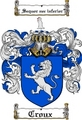Thumbnail Croux Family Crest  Croux Coat of Arms
