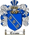 Thumbnail Cruse Family Crest  Cruse Coat of Arms