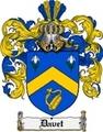 Thumbnail Davet Family Crest  Davet Coat of Arms