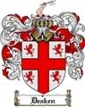 Thumbnail Deaken Family Crest  Deaken Coat of Arms