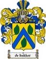 Thumbnail Debakker Family Crest  Debakker Coat of Arms