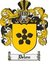 Thumbnail Delon Family Crest  Delon Coat of Arms