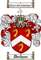 Thumbnail Denham Family Crest Denham Coat of Arms Digital Download