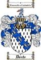 Thumbnail Dente Family Crest  Dente Coat of Arms