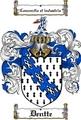Thumbnail Dentte Family Crest  Dentte Coat of Arms
