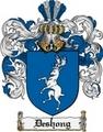 Thumbnail Deshong Family Crest  Deshong Coat of Arms