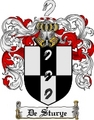 Thumbnail Destury Family Crest  Destury Coat of Arms