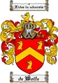 Thumbnail Dewolfe Family Crest  Dewolfe Coat of Arms