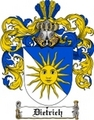 Thumbnail Dietrich Family Crest  Dietrich Coat of Arms
