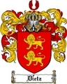 Thumbnail Dietz Family Crest  Dietz Coat of Arms