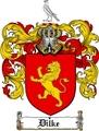Thumbnail Dilke Family Crest  Dilke Coat of Arms