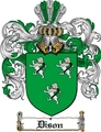 Thumbnail Dison Family Crest  Dison Coat of Arms