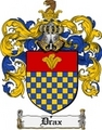 Thumbnail Drax Family Crest Drax Coat of Arms Digital Download
