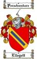 Thumbnail Ellegett Family Crest  Ellegett Coat of Arms