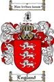 Thumbnail England Family Crest  England Coat of Arms