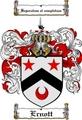 Thumbnail Ernott Family Crest  Ernott Coat of Arms