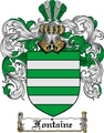 Thumbnail Fontaine Family Crest  Fontaine Coat of Arms