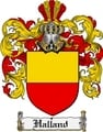 Thumbnail Halland Family Crest  Halland Coat of Arms