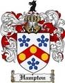 Thumbnail Hampton Family Crest Hampton Coat of Arms Digital Download