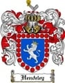 Thumbnail Hendeley Family Crest Hendeley Coat of Arms Digital Download