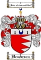 Thumbnail Henderson Family Crest / Henderson Coat of Arms