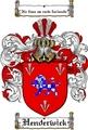 Thumbnail Henderwick Family Crest  Henderwick Coat of Arms