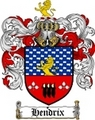 Thumbnail Hendrix Family Crest  Hendrix Coat of Arms