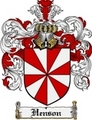 Thumbnail Henson Family Crest Henson Coat of Arms Digital Download