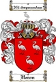 Thumbnail Heron Family Crest  Heron Coat of Arms