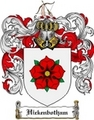 Thumbnail Hickenbotham Family Crest Hickenbotham Coat of Arms Digital Download