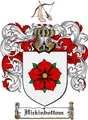 Thumbnail Hickinbottom Family Crest  Hickinbottom Coat of Arms