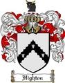 Thumbnail Highton Family Crest  Highton Coat of Arms