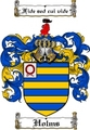 Thumbnail Holms Family Crest  Holms Coat of Arms