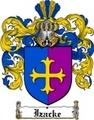 Thumbnail Izacke Family Crest  Izacke Coat of Arms