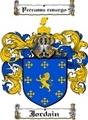 Thumbnail Jordain Family Crest  Jordain Coat of Arms