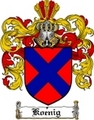 Thumbnail Koenig Family Crest  Koenig Coat of Arms