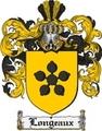 Thumbnail Longeaux Family Crest  Longeaux Coat of Arms