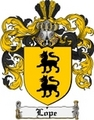 Thumbnail Lope Family Crest  Lope Coat of Arms