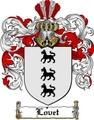 Thumbnail Lovet Family Crest  Lovet Coat of Arms