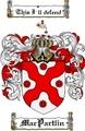 Thumbnail Macpartlin Family Crest  Macpartlin Coat of Arms