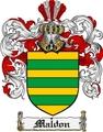 Thumbnail Maldon Family Crest  Maldon Coat of Arms